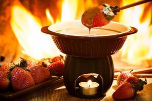 fondue au chocolat photo