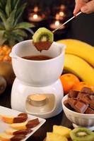 fondue au chocolat aux fruits