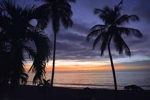 coucher de soleil tropical