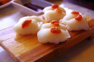 cuisine japonaise - calmar sushi