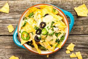 nachos au fromage fondu photo