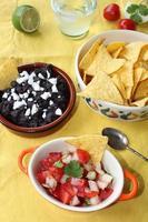 pico de gallo et salsa aux haricots noirs