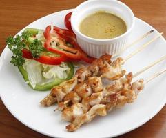 Satay de poulet photo