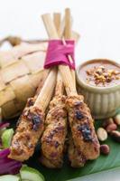 poulet satay, bali, indonésie
