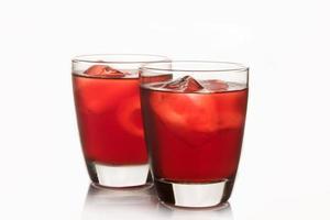 jus de roselle, boisson gazeuse thaïlandaise pour une bonne santé photo