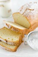 tranches de gâteau à la vanille photo
