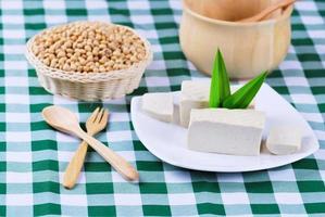 tofu et fèves de soja