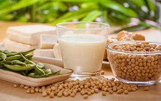 des produits à base de soja