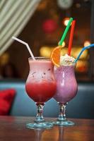 deux cocktails milkshake