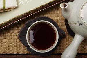 thé japonais à l'abricot photo