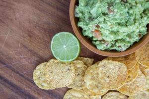 chips de maïs guacamole