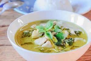 curry vert au porc