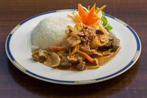 curry masman avec du riz