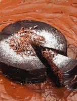 nature morte de gâteau au chocolat photo