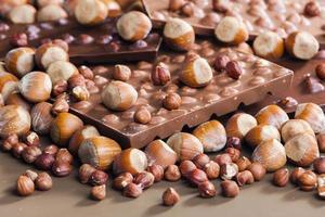chocolat aux noisettes photo