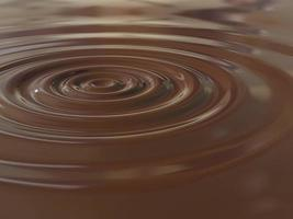 goutte de chocolat photo