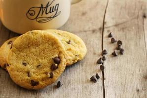 biscuits aux pépites de chocolat et aux pois chiches sans gluten photo