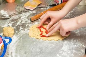 la cuisson des biscuits photo