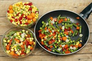 la cuisson des légumes photo