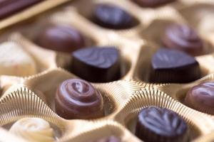 Gros plan d'une boîte de chocolats photo