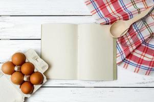 fond de livre de recettes photo