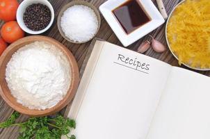 livre de recettes photo