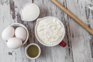ingrédients de recette de pâte