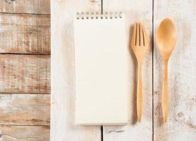livre de recettes vierge photo