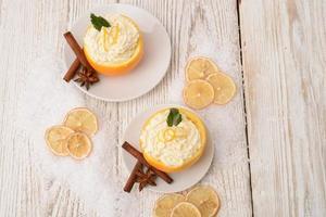 oranges crème cannelle photo