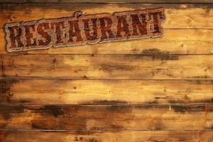 Le menu du restaurant photo