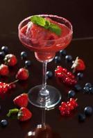 cocktail margarita aux fraises photo