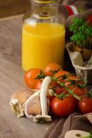 sauce tomate cerise rôtie et ricotta sur toast photo