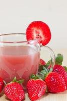 Jus de fraise photo