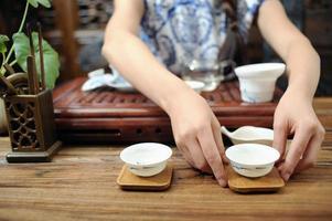 le thé est la cérémonie du thé photo