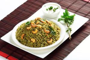 riz pudina à la menthe photo