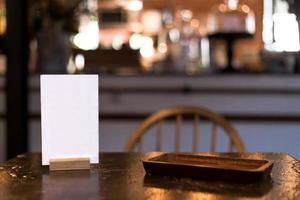 carte de menu au restaurant photo