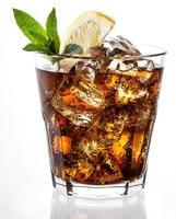 cola avec glace et citron
