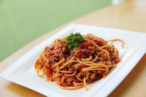 spaghetti bolognaise photo