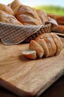 mini baguettes de pain français photo