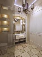 salle de bain style oriental
