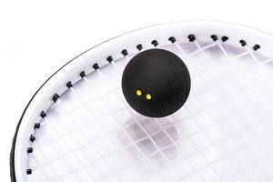 raquettes et balles de squash photo