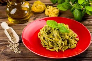 tagliatelles au pesto photo