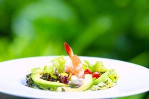 salade fraîche à la mangue