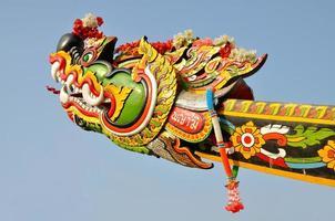 tête de bateau dragon photo
