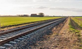 chemin de fer en diagonale photo