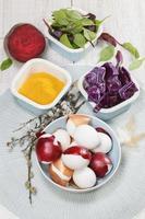 colorants naturels d'oeufs de Pâques
