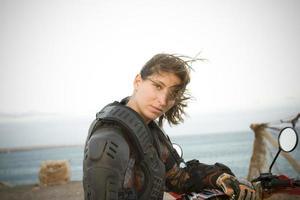 femme de motocross photo
