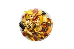 mélange de pâtes colorées photo