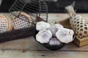 bulbes d'ail photo