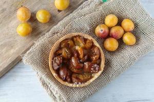 tarte aux prunes mirabelle photo